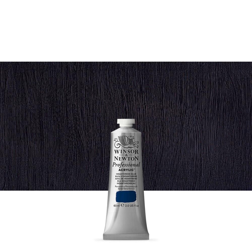 Winsor & Newton : Professional Acrylic Paint : 60ml : Indanthrene Blue