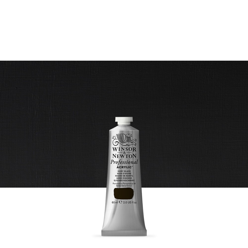 Winsor & Newton : Professional Acrylic Paint : 60ml : Ivory Black