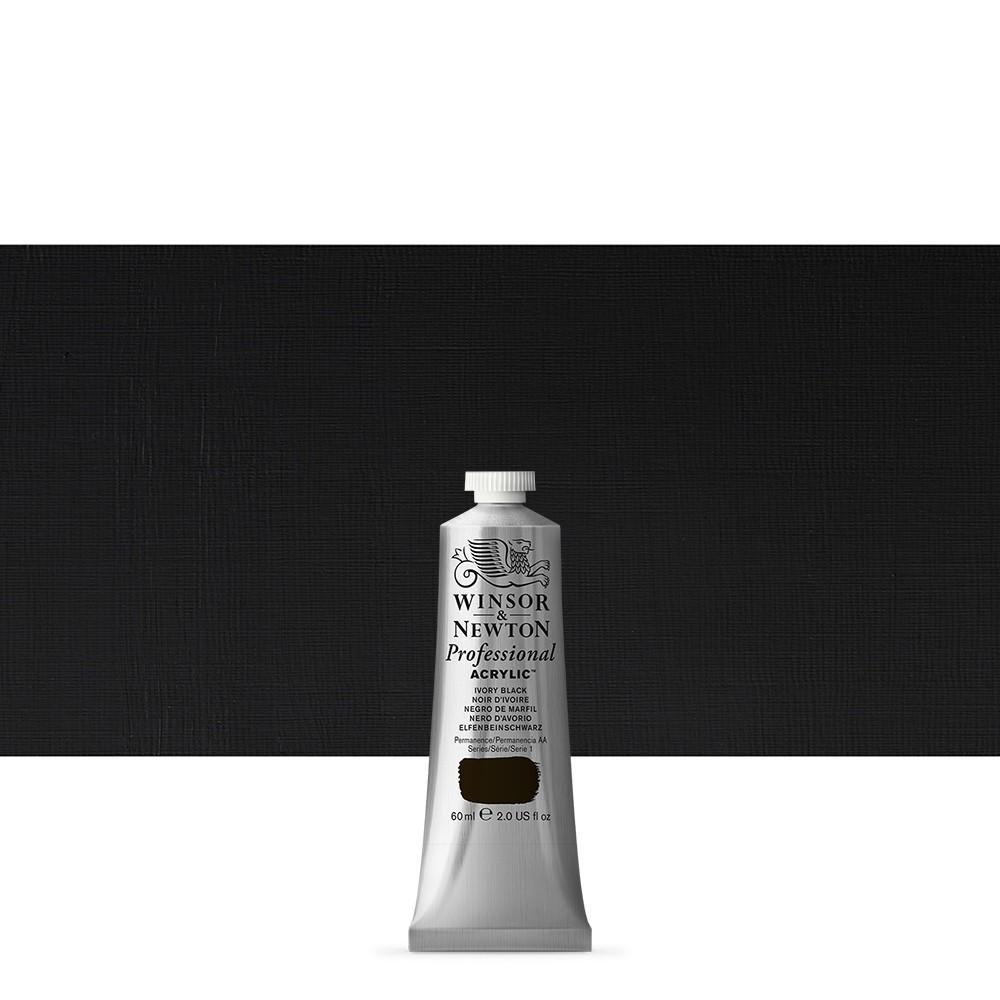 Winsor & Newton : Professional Acrylic Paint : 60ml : Ivory Black