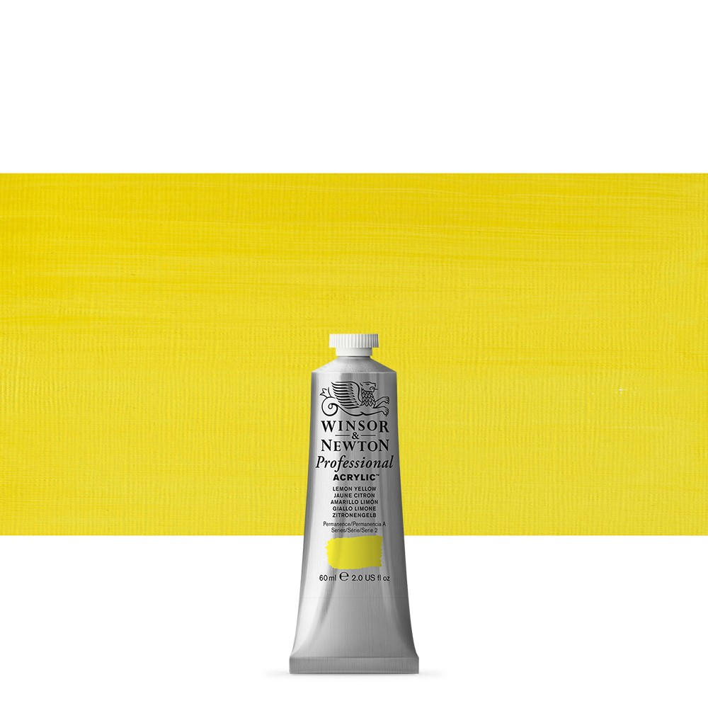Winsor & Newton : Professional Acrylic Paint : 60ml : Lemon Yellow