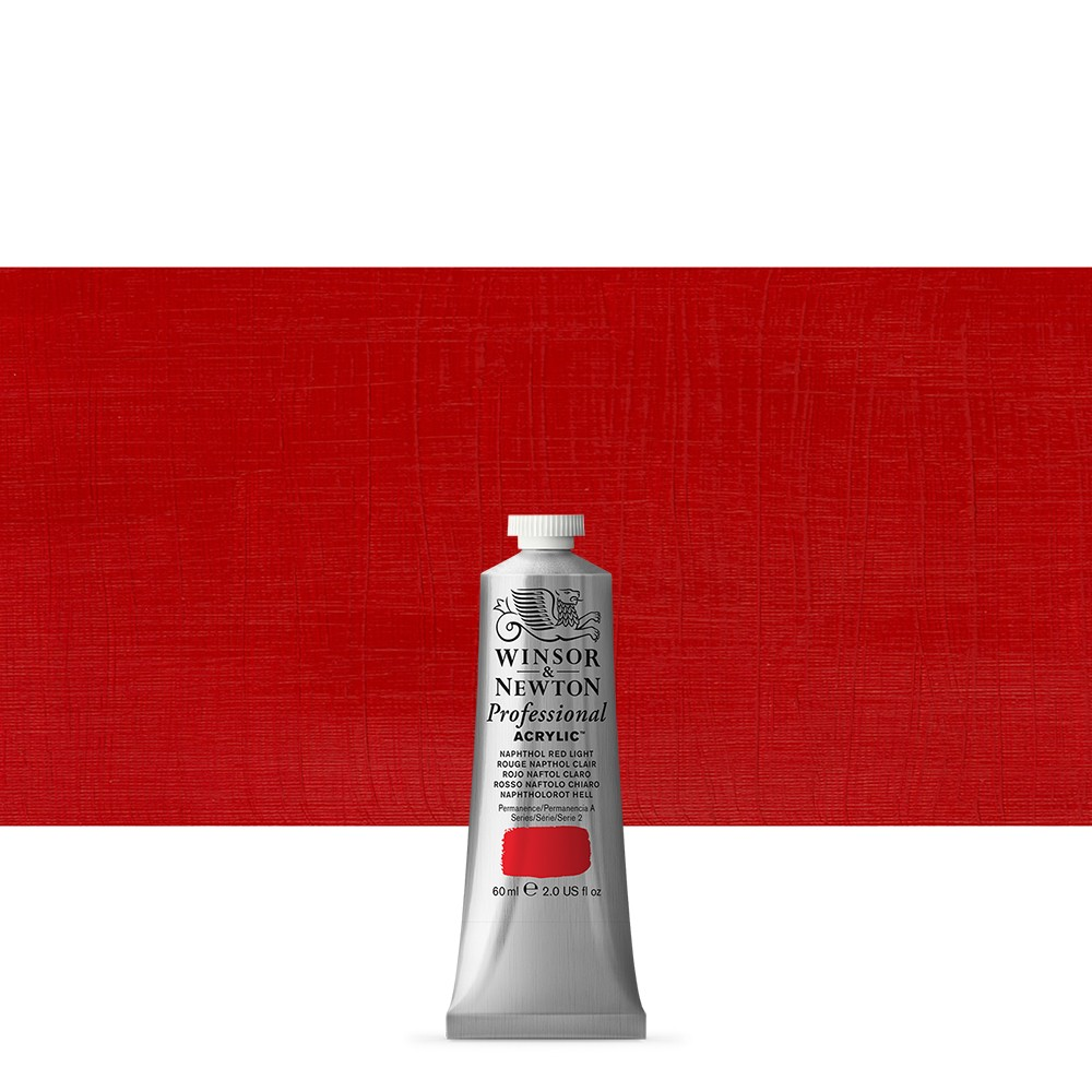 Winsor & Newton : Professional Acrylic Paint : 60ml : Naphthol Red Light