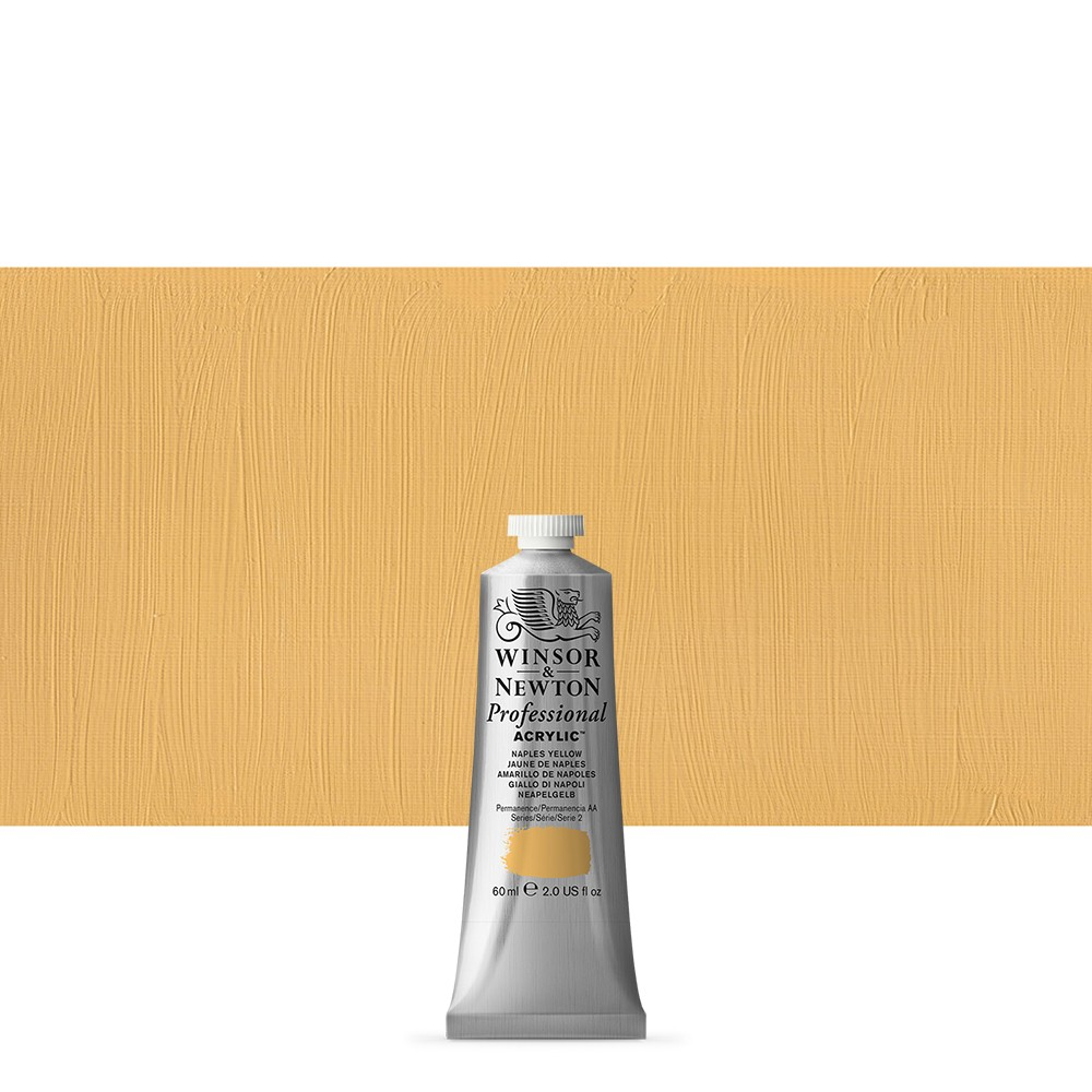 Winsor & Newton : Professional Acrylic Paint : 60ml : Naples Yellow