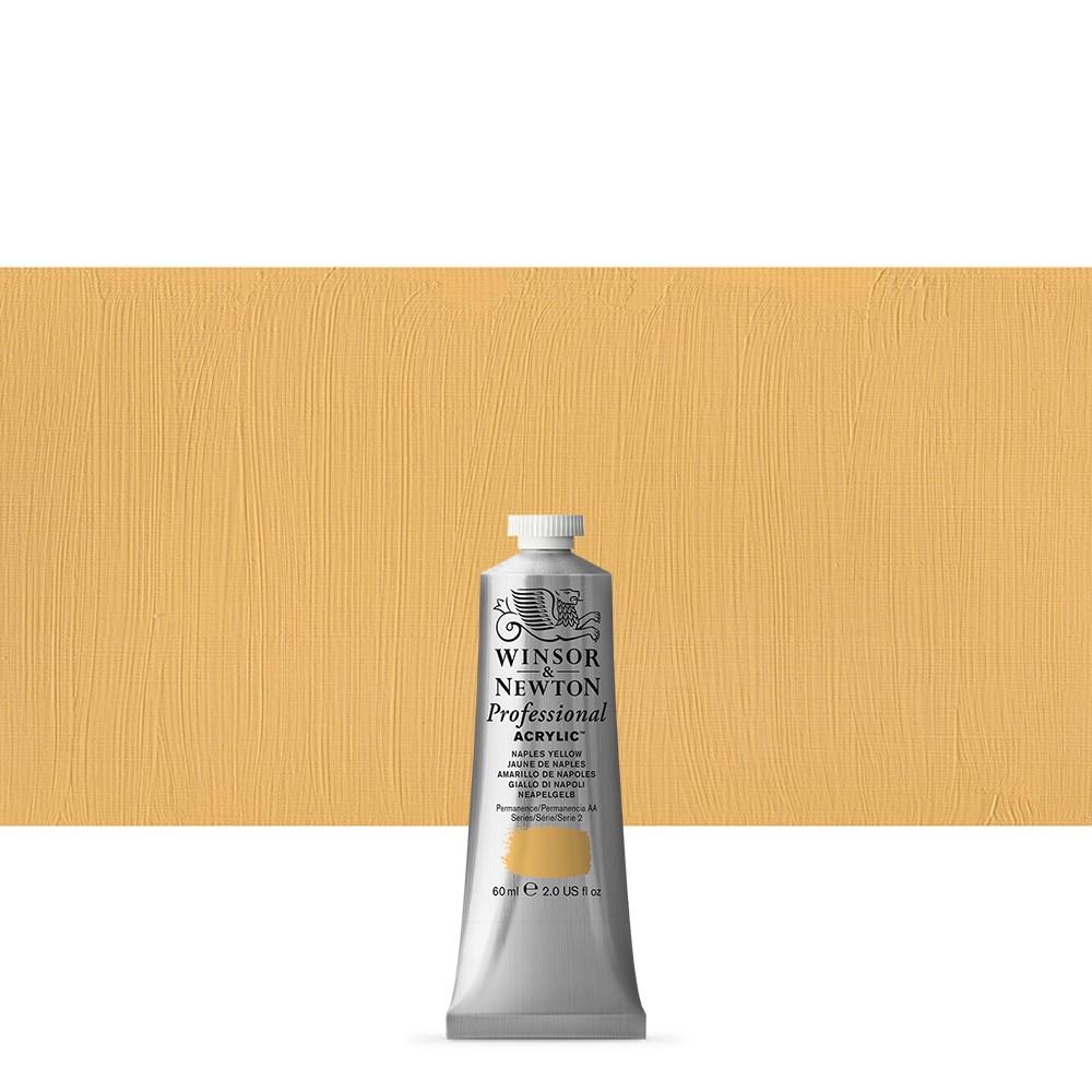 Winsor & Newton : Professional Acrylic Paint : 60ml : Naples Yellow