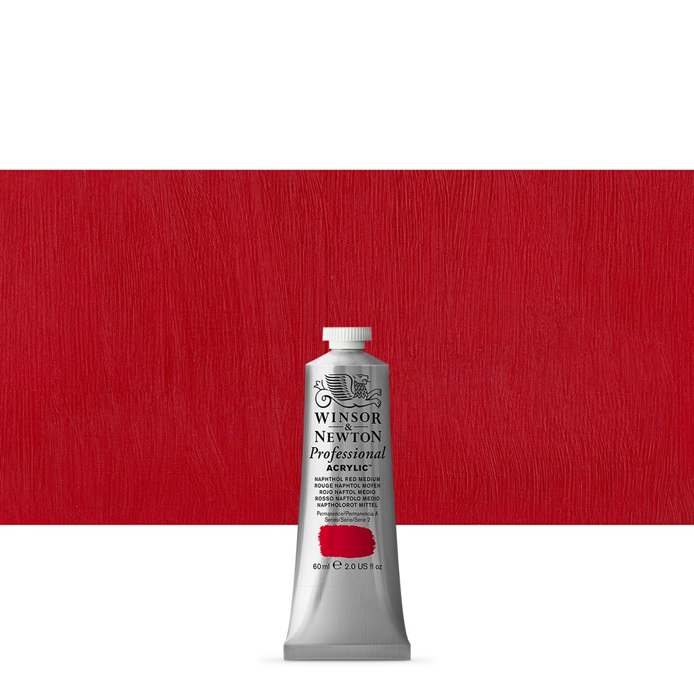 Winsor & Newton : Professional Acrylic Paint : 60ml : Naphthol Red Medium