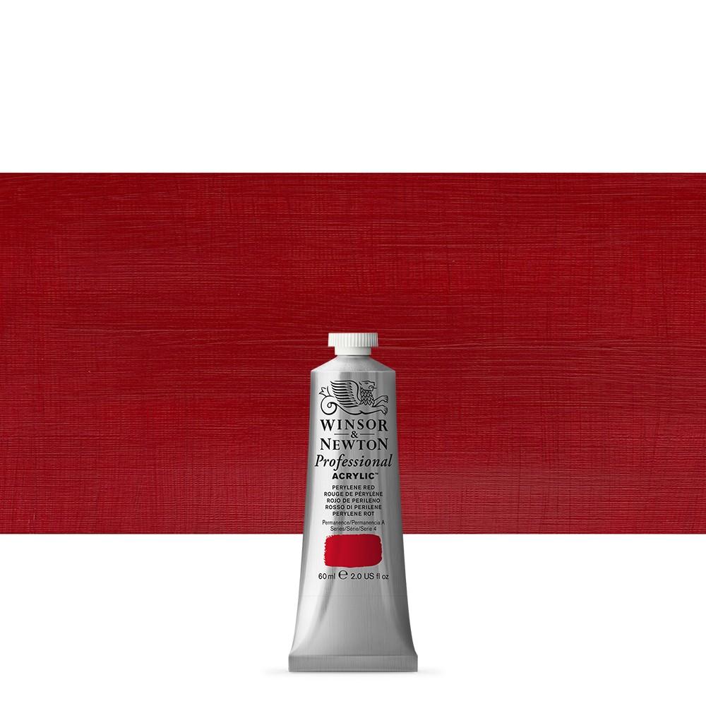 Winsor & Newton : Professional Acrylic Paint : 60ml : Perylene Red