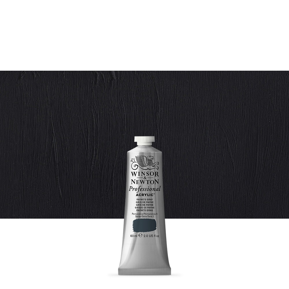 Winsor & Newton : Professional Acrylic Paint : 60ml : Paynes Grey
