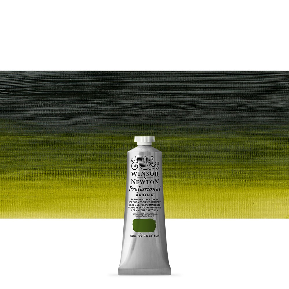 Winsor & Newton : Professional Acrylic Paint : 60ml : Permanent Sap Green