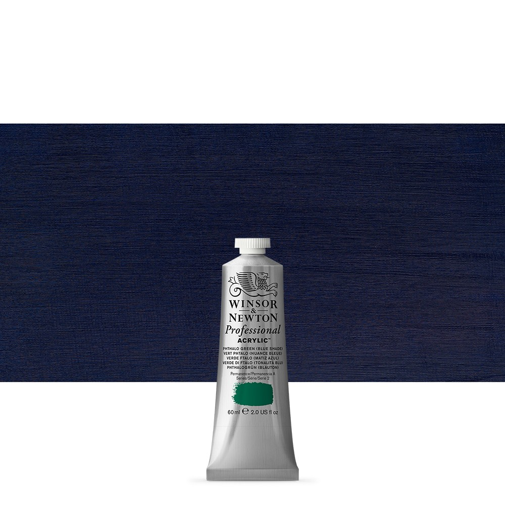 Winsor & Newton : Professional Acrylic Paint : 60ml : Phthalo Blue Green Shade