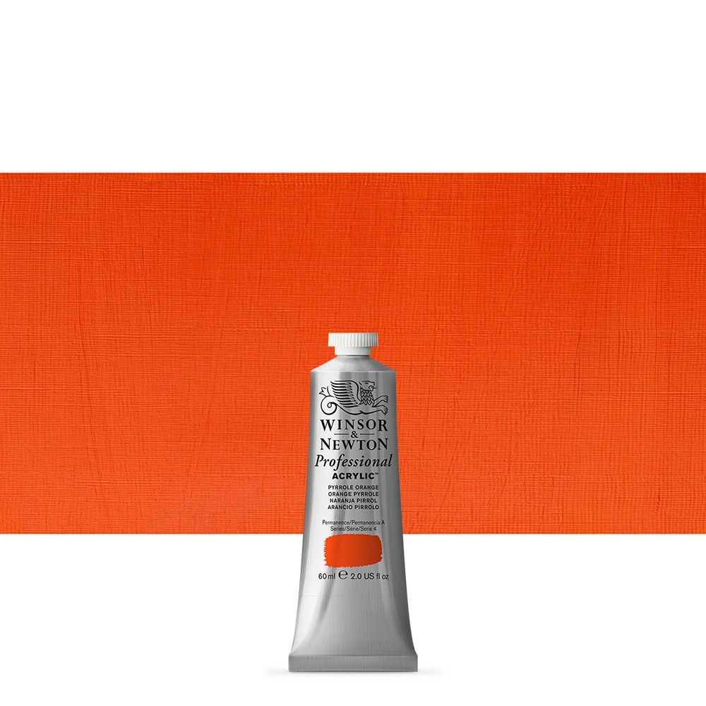 Winsor & Newton : Professional Acrylic Paint : 60ml : Pyrrole Orange