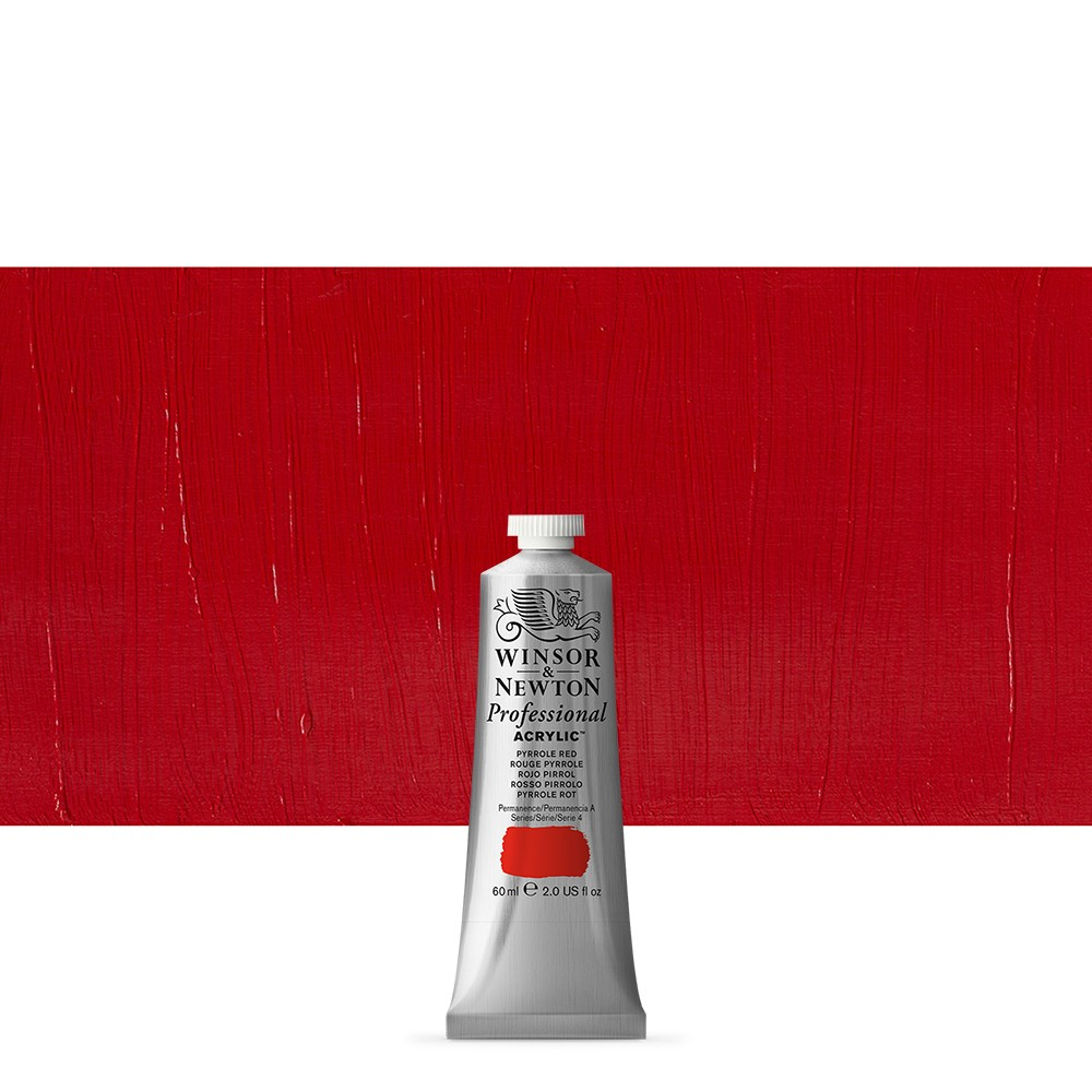 Winsor & Newton : Professional Acrylic Paint : 60ml : Pyrrole Red