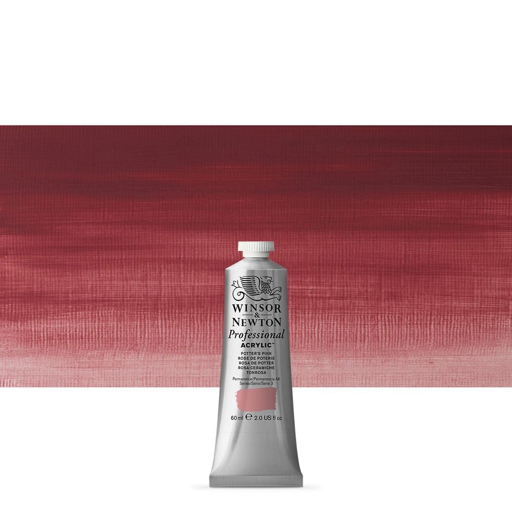 Winsor & Newton : Professional Acrylic Paint : 60ml : Potters Pink