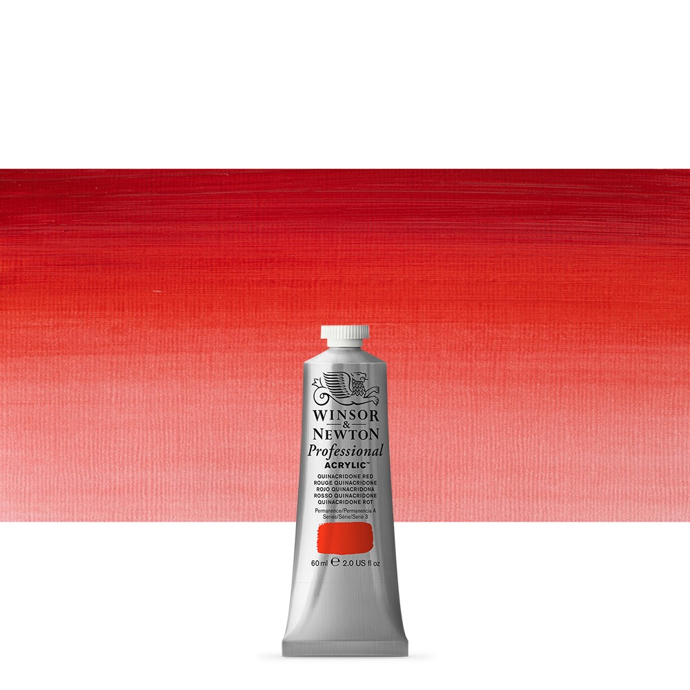 Winsor & Newton : Professional Acrylic Paint : 60ml : Quinacridone Red
