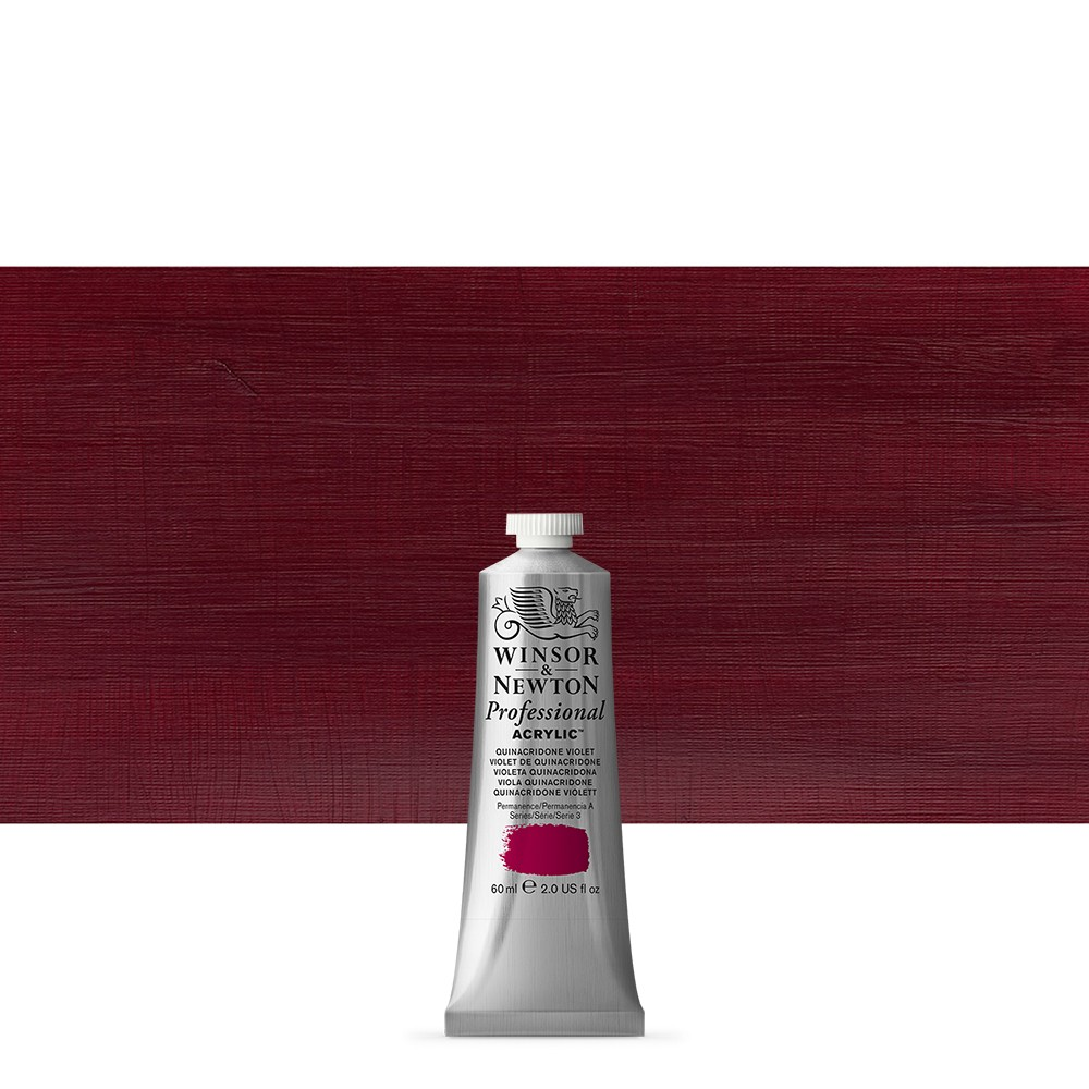 Winsor & Newton : Professional Acrylic Paint : 60ml : Quinacridone Violet