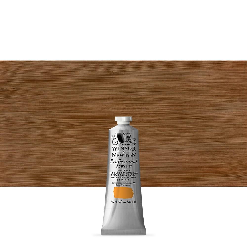 Winsor & Newton : Professional Acrylic Paint : 60ml : Raw Sienna