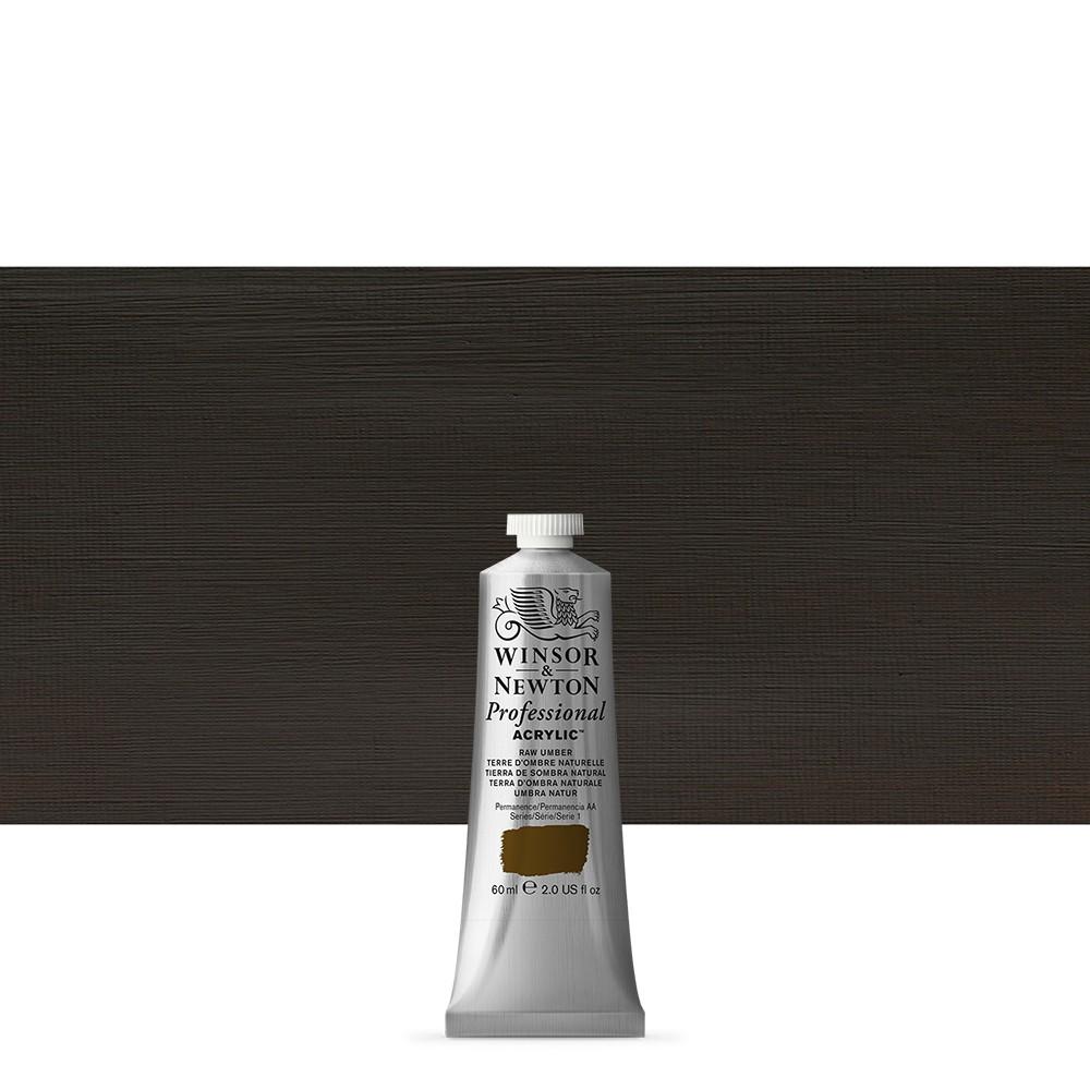 Winsor & Newton : Professional Acrylic Paint : 60ml : Raw Umber