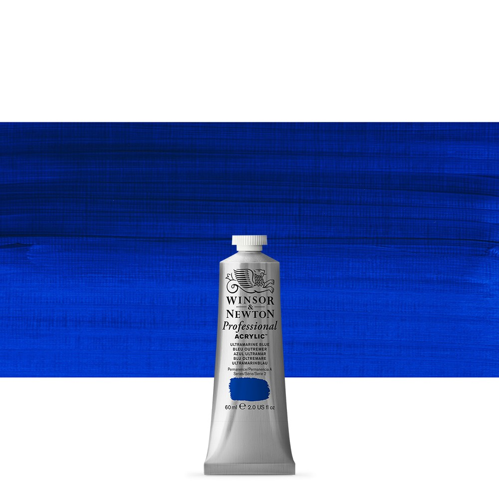 Winsor & Newton : Professional Acrylic Paint : 60ml : Ultra Blue