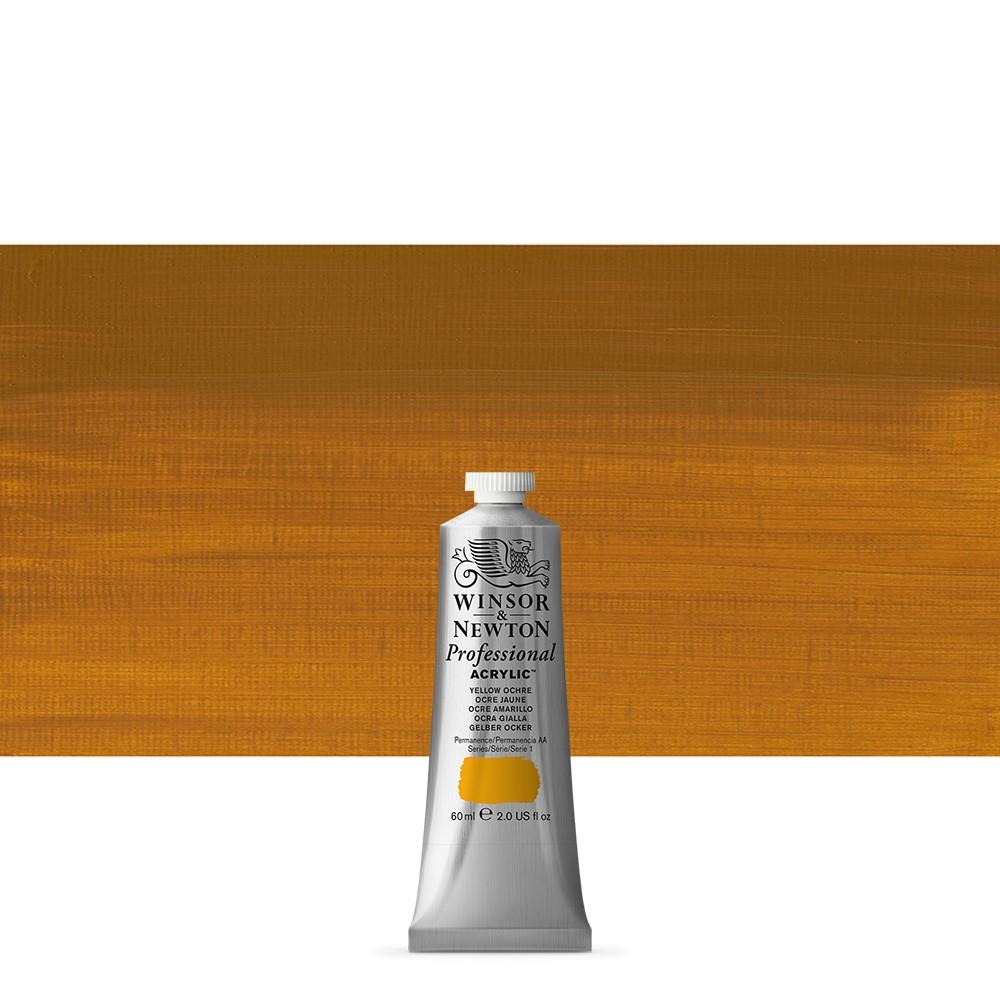 Winsor & Newton : Professional Acrylic Paint : 60ml : Yellow Ochre