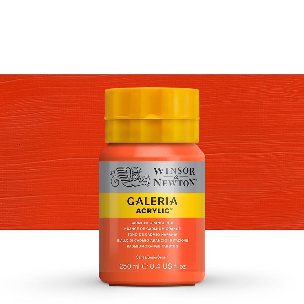W&N : Galeria : Acrylic Paint : 250ml : Cadmium Orange Hue