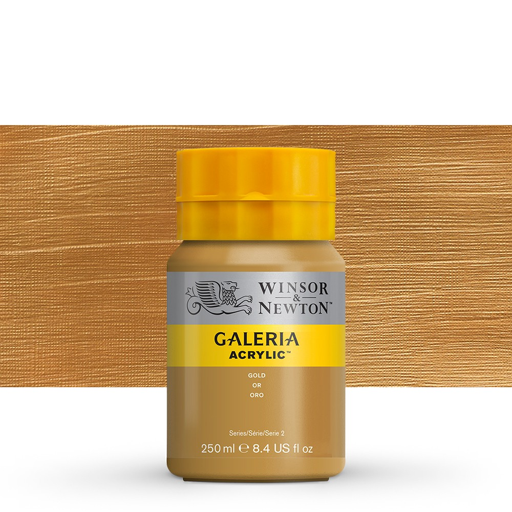 W&N : Galeria : Acrylic Paint : 250ml : Metallic Gold