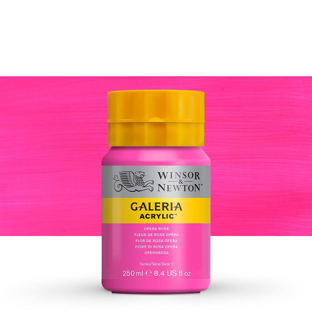 W&N : Galeria : Acrylic Paint : 250ml : Opera Rose