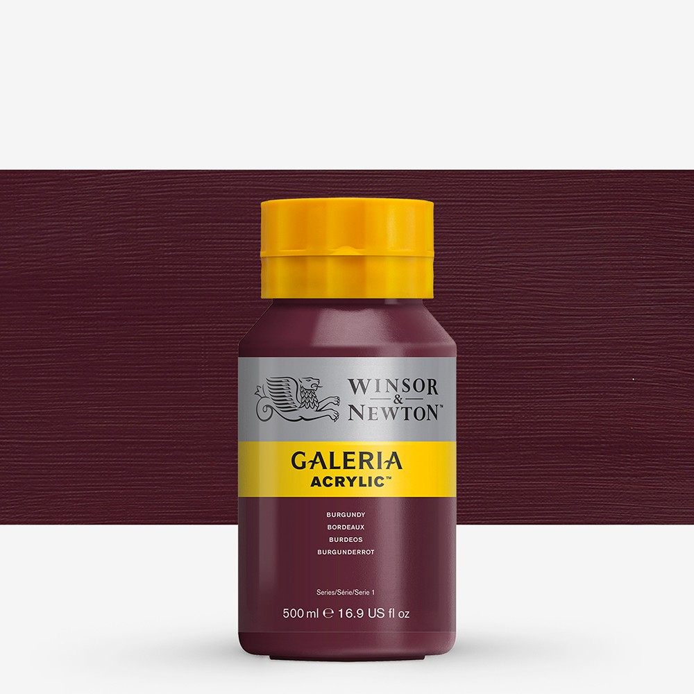 W&N : Galeria : Acrylic Paint : 500ml : Burgundy