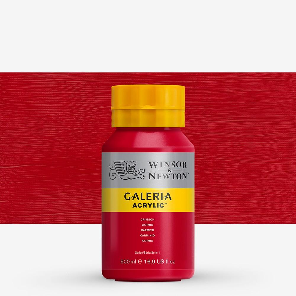 W&N : Galeria : Acrylic Paint : 500ml : Crimson