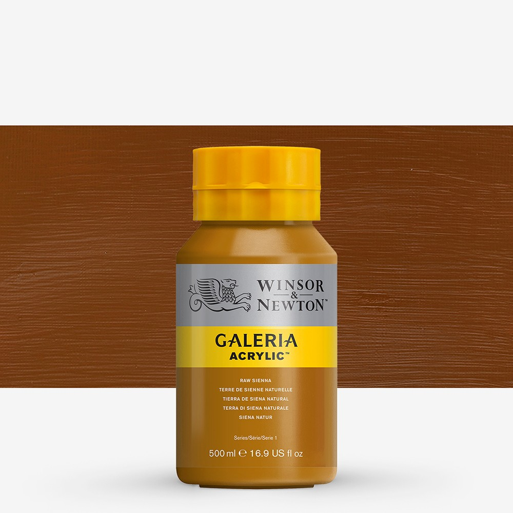 W&N : Galeria : Acrylic Paint : 500ml : Raw Sienna