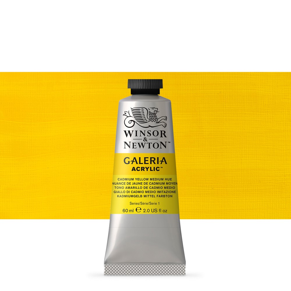 Winsor & Newton : Galeria : Acrylic Paint : 60ml : Cadmium Yellow Medium Hue