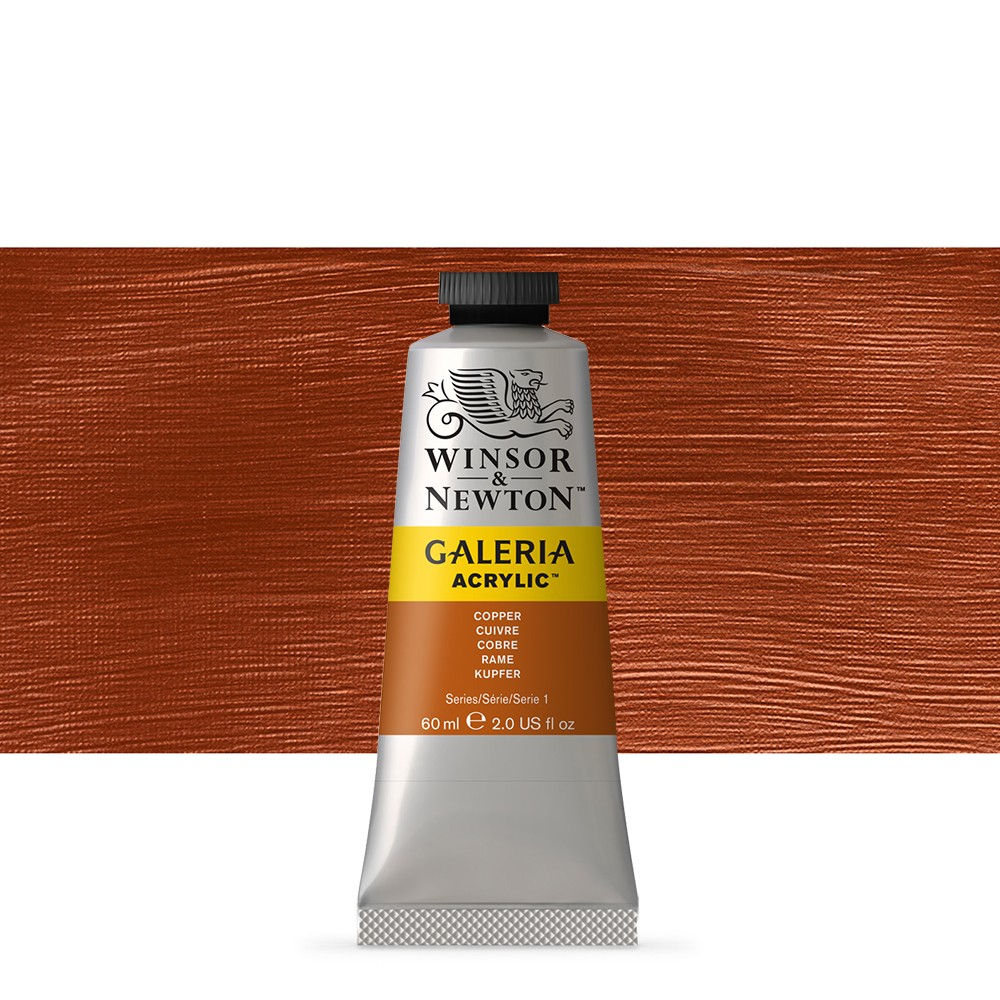 W&N : Galeria : Acrylic Paint : 60ml : Copper