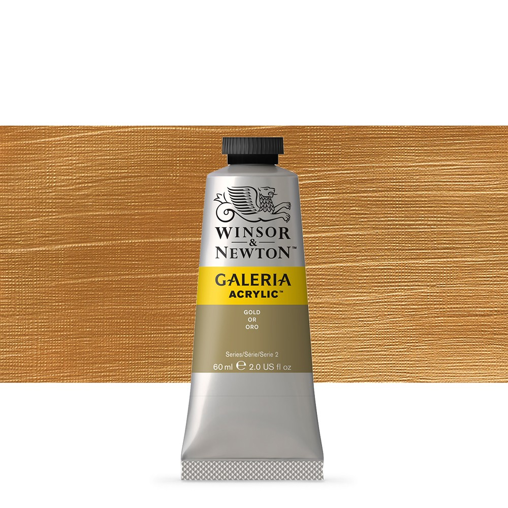 W&N : Galeria : Acrylic Paint : 60ml : Metallic Gold