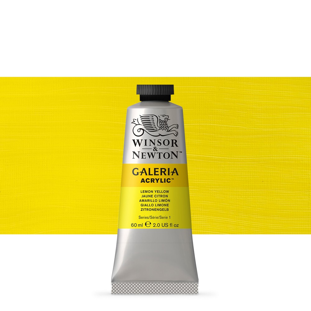 W&N : Galeria : Acrylic Paint : 60ml : Lemon Yellow