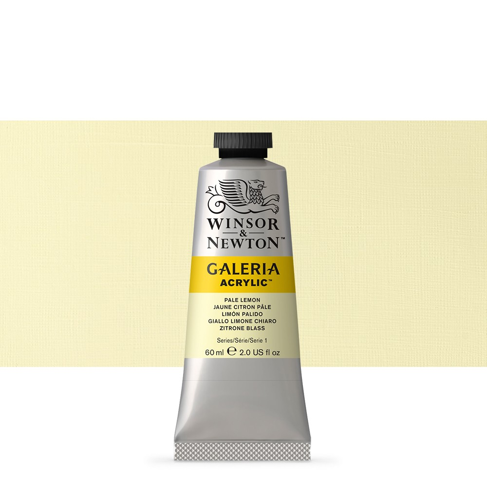 W&N : Galeria : Acrylic Paint : 60ml : Pale Lemon