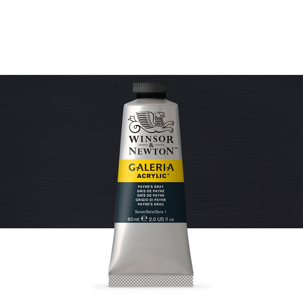W&N : Galeria : Acrylic Paint : 60ml : Paynes Gray