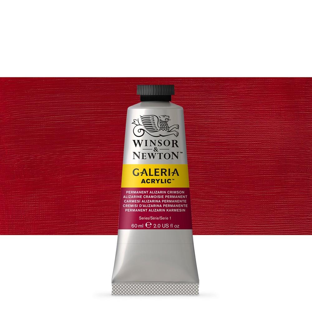 W&N : Galeria : Acrylic Paint : 60ml : Perm Aliz Crimson