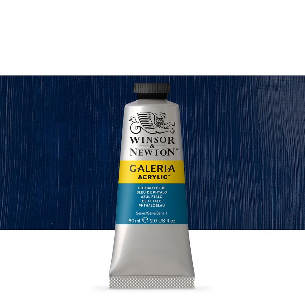 W&N : Galeria : Acrylic Paint : 60ml : Phthalo Blue