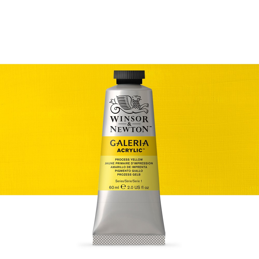 W&N : Galeria : Acrylic Paint : 60ml : Process Yellow