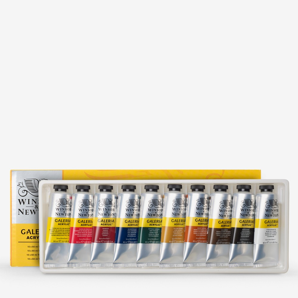 Winsor & Newton : Galeria : Acrylic Paint Set : 10x60ml