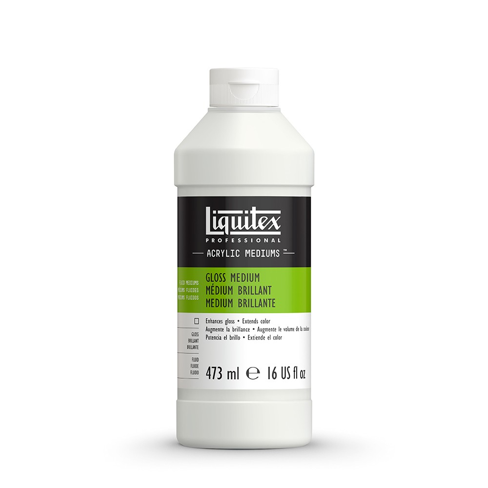 Liquitex : Professional : Fluid Gloss Medium & Varnish : 473ml