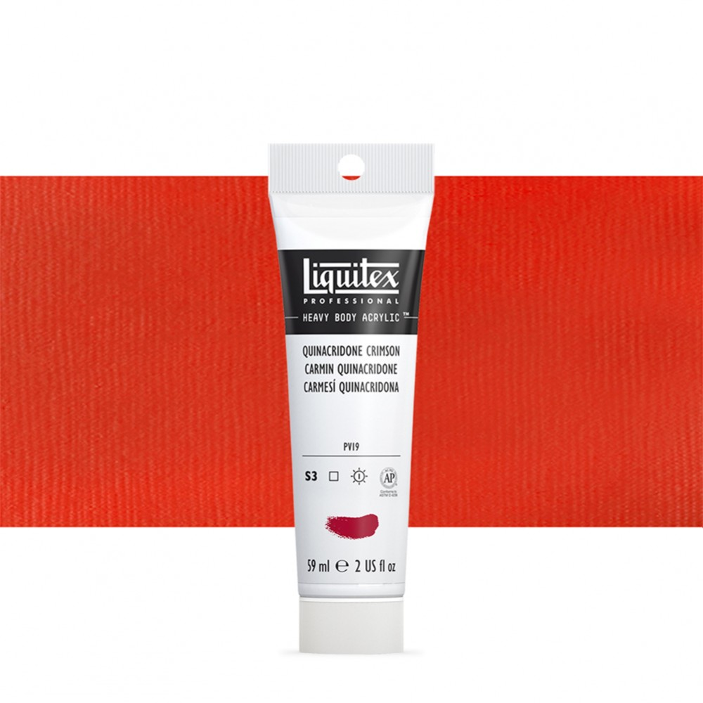Liquitex : Professional : Heavy Body Acrylic Paint : 59ml : Quinacridone Red