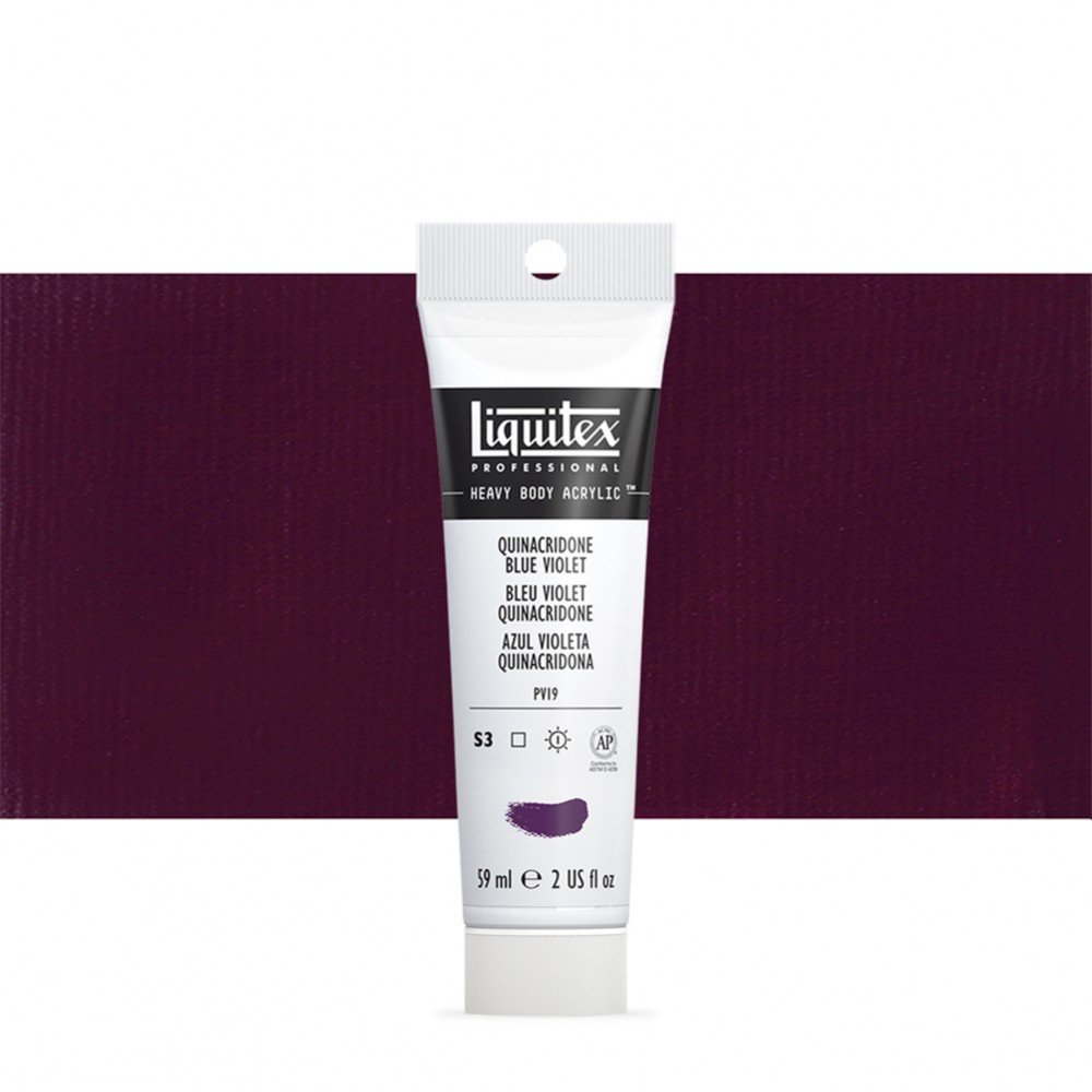 Liquitex : Professional : Heavy Body Acrylic Paint : 59ml : Quinacridone (Formerly Acra) Blue Violet