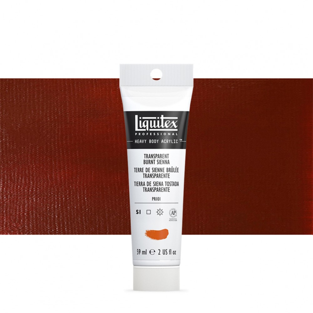 Liquitex : Professional : Heavy Body Acrylic Paint : 59ml : Transparent Burnt Sienna