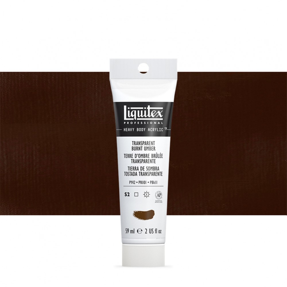 Liquitex : Professional : Heavy Body Acrylic Paint : 59ml : Transparent Burnt Umber