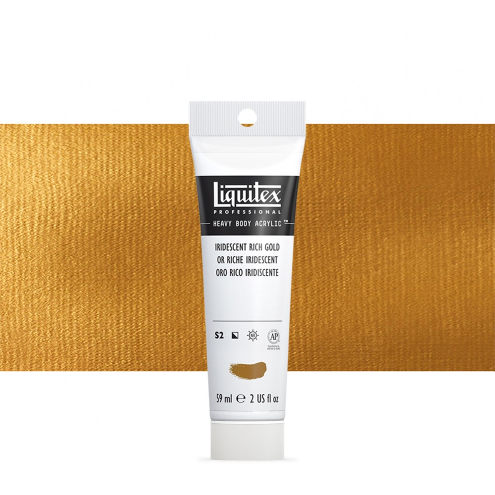 Liquitex : Professional : Heavy Body Acrylic Paint : 59ml : Iridescent Rich Gold