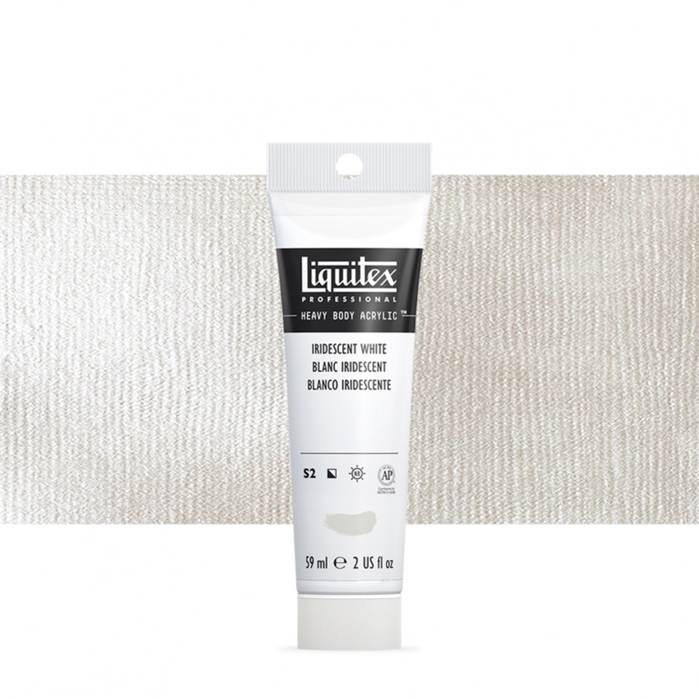 Liquitex : Professional : Heavy Body Acrylic Paint : 59ml : Iridescent White
