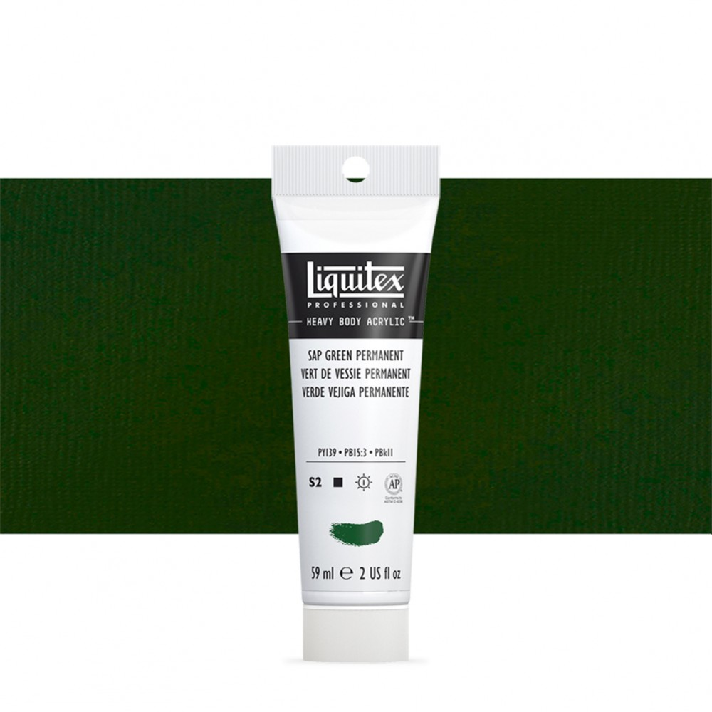 Liquitex : Professional : Heavy Body Acrylic Paint : 59ml : Permanent Sap Green