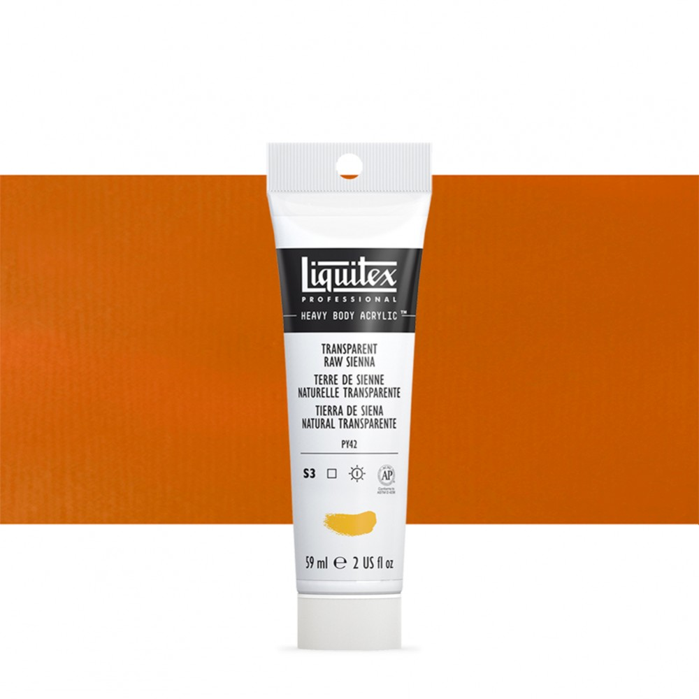 Liquitex : Professional : Heavy Body Acrylic Paint : 59ml : Transparent Raw Sienna