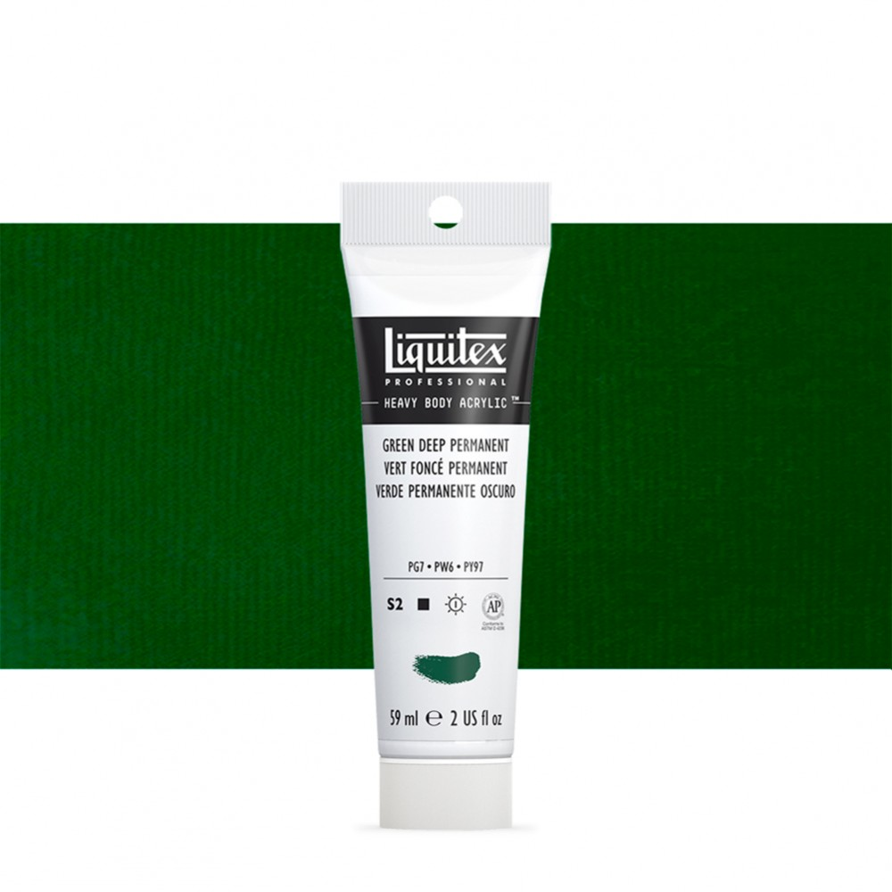 Liquitex : Professional : Heavy Body Acrylic Paint : 59ml : Green Deep Permanent