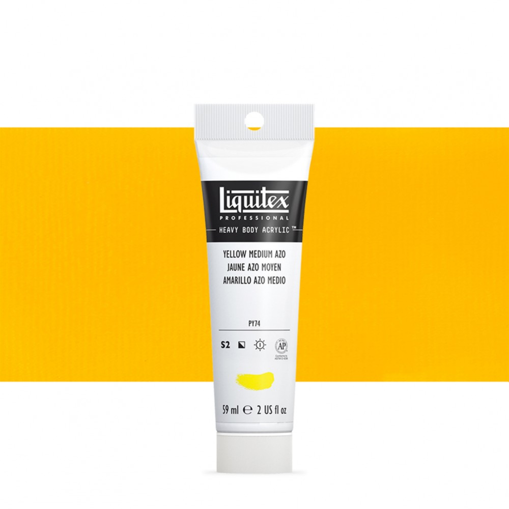 Liquitex : Professional : Heavy Body Acrylic Paint : 59ml : Yellow Medium Azo