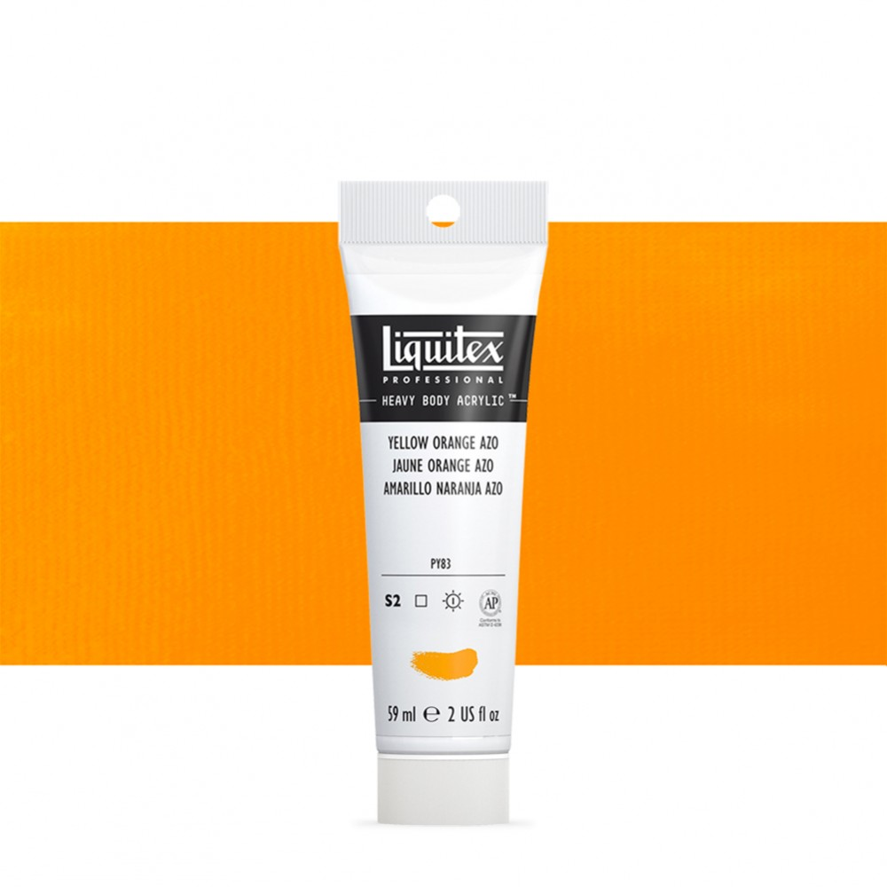 Liquitex : Professional : Heavy Body Acrylic Paint : 59ml : Yellow Orange Azo
