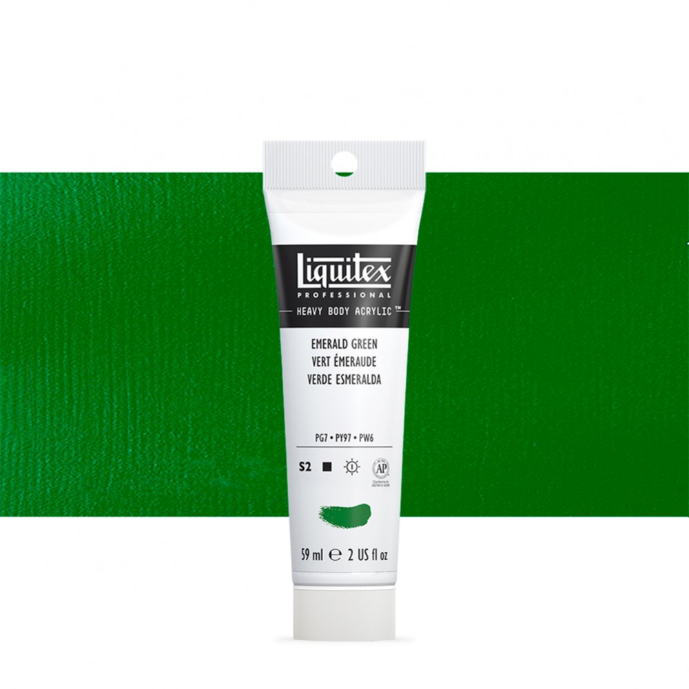 Liquitex : Professional : Heavy Body Acrylic Paint : 59ml : Emerald Green